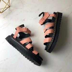 Dr. martens Blaire salmon pink sandals